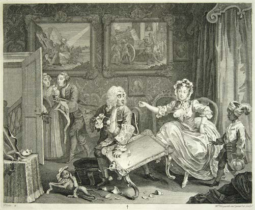 Five people watching, daytime interior. Well-dressed woman kicks over table